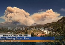 Fast Moving Brush Fire