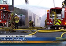 Stubborn Building Fire