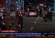 Homeless Man Struck