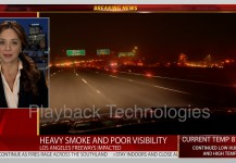 Fire News Night Freeway